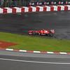 Ferrari's Felipe Massa takes a shortcut