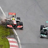 """Lewis: """"Steady on Sergio, it's only qualifying."""""""