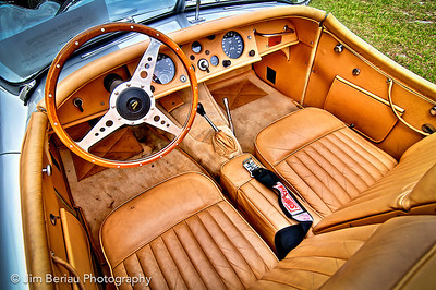 Interior of a 1953 Jaguar at the British Car Show at the Palm Beach International Raceway in Jupiter FL, Feb. 18, 2012.