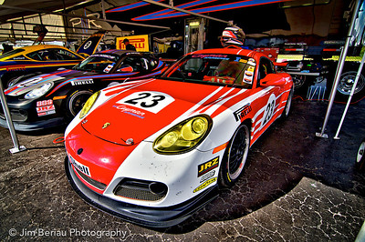 In the Porsche pit at the Palm Beach International Raceway in Jupiter FL, Feb. 18, 2012.