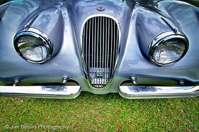 1953 Jaguar at the British Car Show at the Palm Beach International Raceway in Jupiter FL, Feb. 18, 2012.
