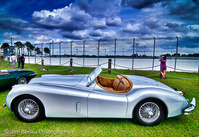 1953 Jaguar at the 2012 British Car Show at Palm Beach International Raceway in Jupiter, FL.