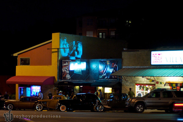 Thursday Night in front of the Continental Club on South Congress St. Austin, TX