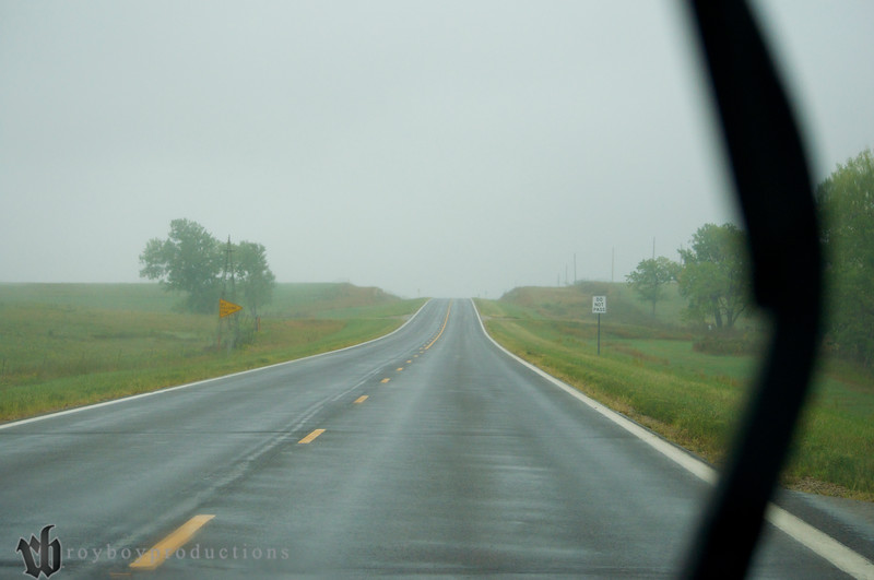 This was not a good sign on the drive to Ottawa for the Ol Marais River Run, luckily the rain never hit the show!