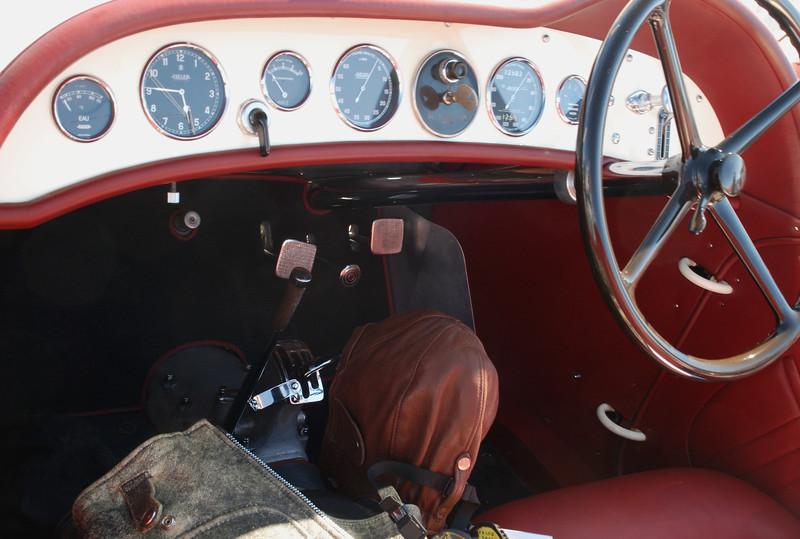 Alfa Romeo 1936 8C Zagato rr lf cockpit detail