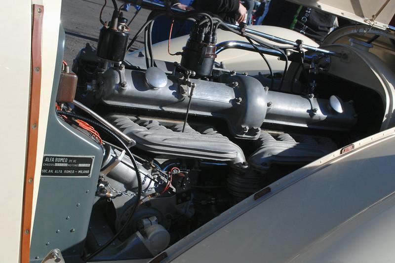 Alfa Romeo 1936 8C Zagato engine rr rt