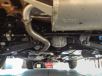 The underside of a 2013 Subaru Crosstrek Premium