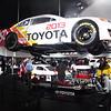 Sloppily taken photo of a Toyota.