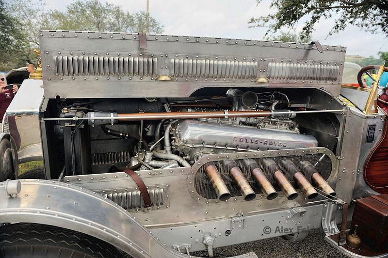1928 Rolls Royce Vanderbundt Thunderbolt 27 liter V12 Aerocar steampunked and with a Merlin engine!