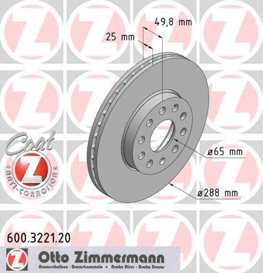 Zimmermann Front Disc - 600.3221.20
