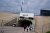 Walking in the Turn 3 & 4 tunnel at Kansas Speedway for the STP 400.<br /> 2013 STP4000057