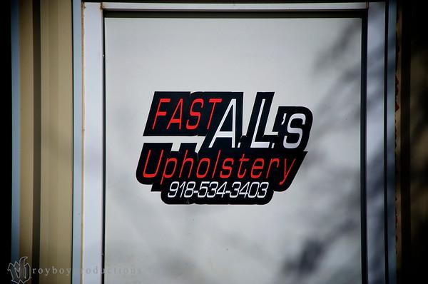 Fast AL's Upholstery Shop Visit 2-4-13