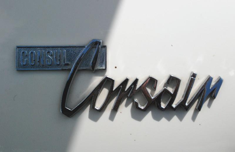 Ford UK 1961 Consul Corsair GT badge
