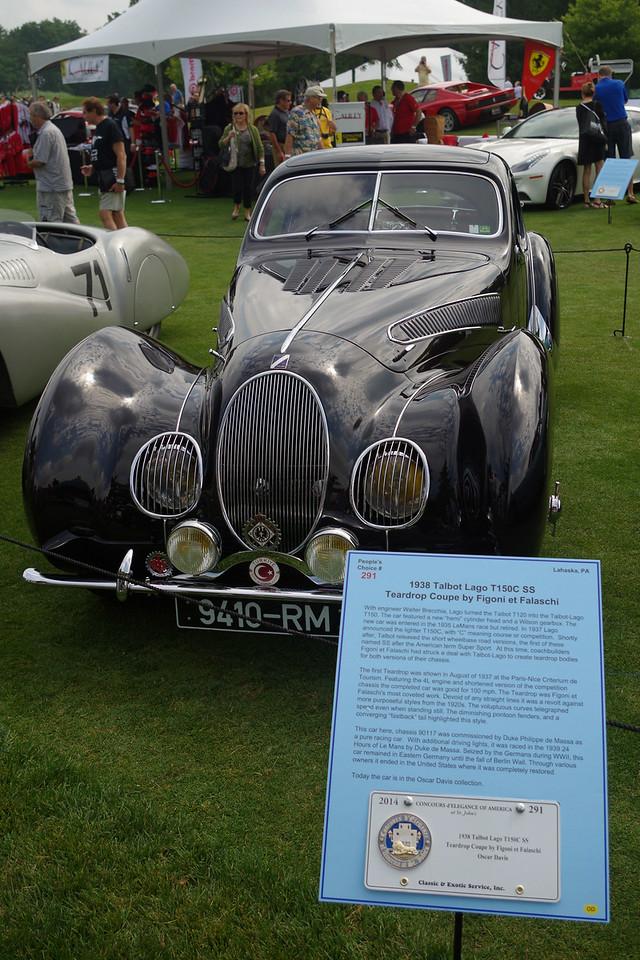 1938 Talbot Laga T150C SS