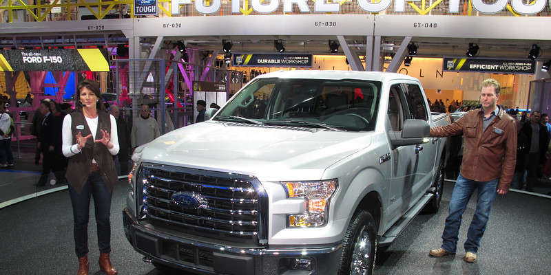 The aluminum F 150 is coming in December.