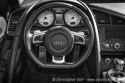 Audi R8 Cockpit - By Christopher Buff, www.Aviationbuff.com