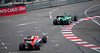 Max Chilton of Marussia chasing Kobayashi's Caterham; they finished just like this.