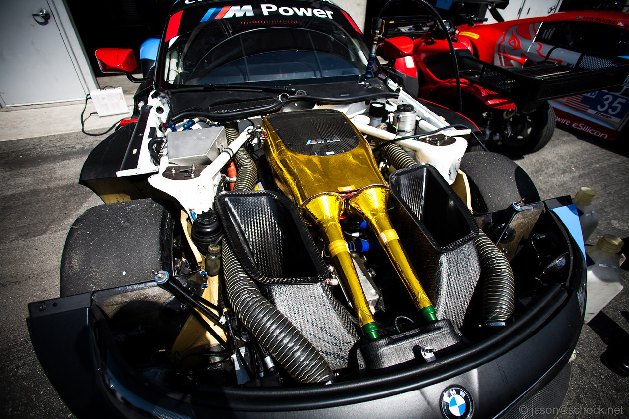 Under the hood of the BMW Z4 GTE.