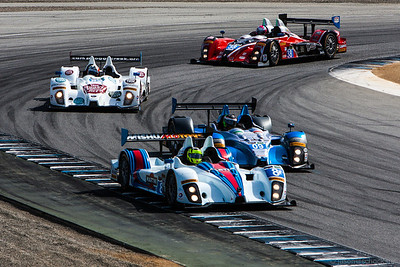 A plethora of Prototype Challenge cars at Turn 11 during practice.