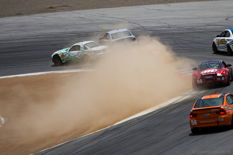 A brake failure down the front straight ended in a hard impact for the #27 Freedom Autosport MX-5.