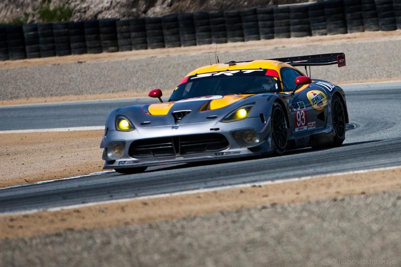 The GTLM class Dodge SRT Viper GTS-R at Turn 3.