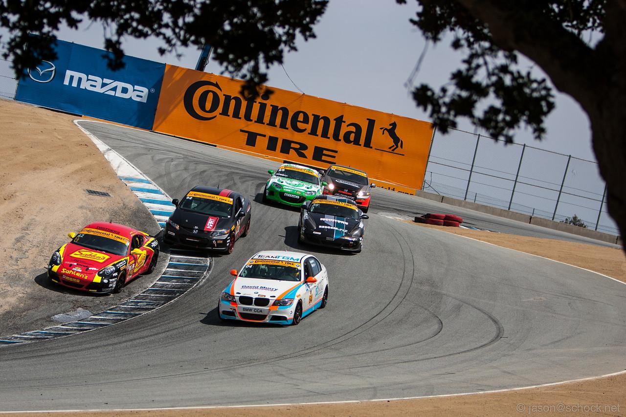 The Corkscrew at Mazda Raceway Laguna Seca.