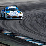Muehlner Motorsport #18 Porsche 911 GT3 RS gets a little sideways.