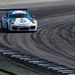 Muehlner Motorsport #18 Porsche 911 GT3 RS gets a little sideways.