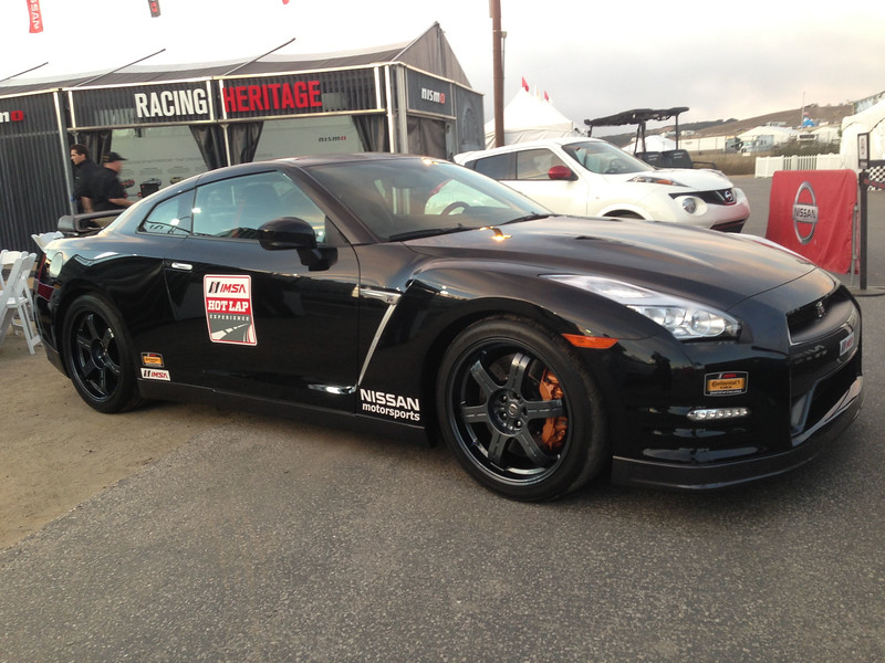 "Nissan Motorsports IMSA Hot Lap GT-R.  Bryan, we need to ""Enjoy the Ride"".  :-)"