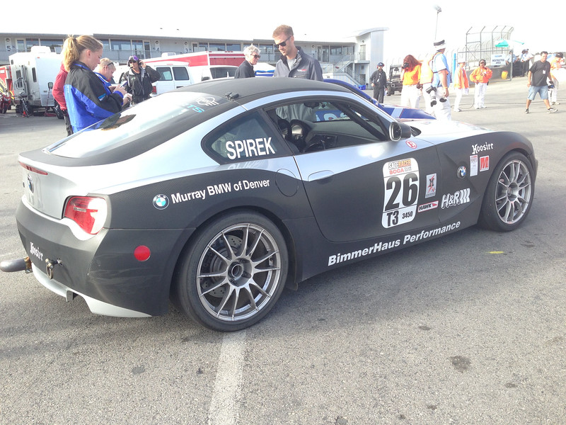 # 26, one of 3 BimmerHause Performance T3 BMW Z4s on Grid.