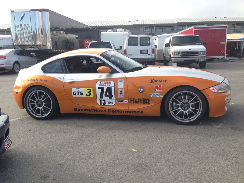 # 74, one of 3 BimmerHause Performance T3 BMW Z4s on Grid.