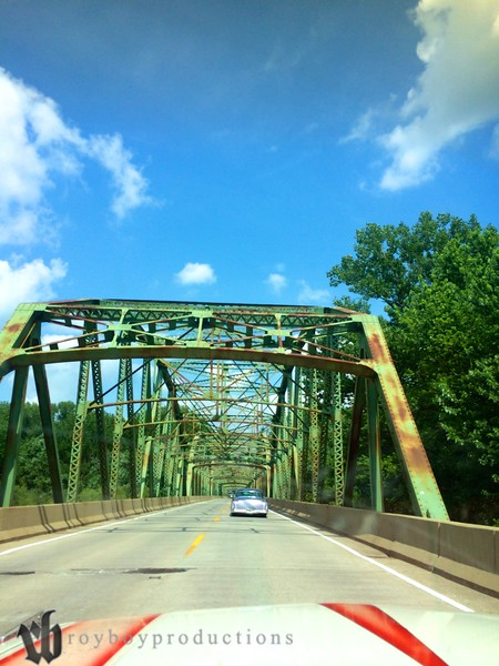 Beautiful bridge on Highway 36 in Indiana