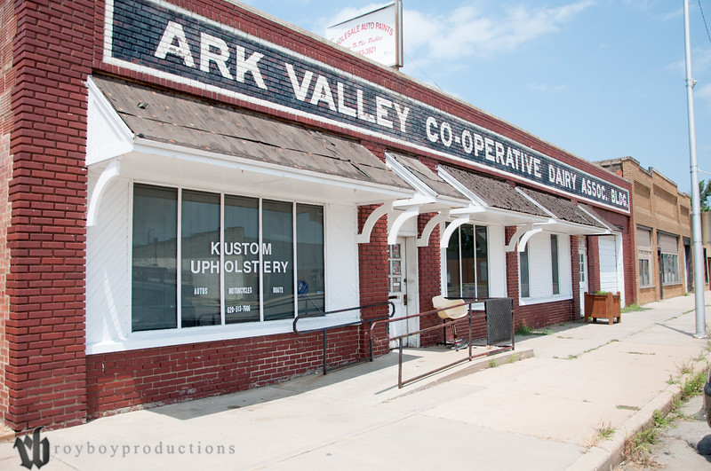 Johnny Torres Upholstery is located in the former offices of the Ark Valley CO-OP in the last block on the south end of Main St. in Hutchinson, KS