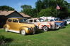 Butch Harness' 40 Ford, Jody Robinson's Zephyr and Rocky Burris Jr's Buick showing that all 3 are falling in the footsteps of their fathers.