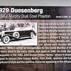 Duesenberg 1929 J #2285 01