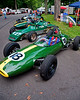 A 1962 Lotus 22 owned by Colin Nursey of Oakford, Tiverton, Devon leads the line up in Sports Racers and Formula Ford with a 1978 Crossle 32F behind.<br /> <br /> Nursey also won the Group 3 Small Bore, Formula Vee, Formula Junior race.