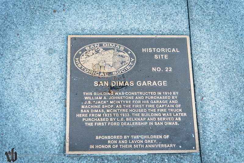 Plaque on the ground outside of The Early Ford Store in San Dimas, CA