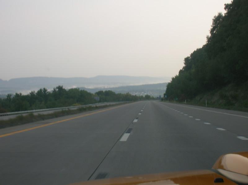 Heading down into the I-80 valley from Hazelton