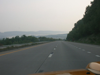 Heading down into the I-80 valley from Hazelton