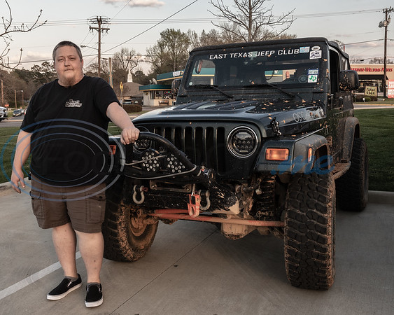 David Featherston and his Jeep at the 2019 East Texas Jeep Club Cruise-In, held at the Grub Burger Bar, in Tyler, Tx. Tuesday, March 19,  2019. (Rick Flack/Freelance)
