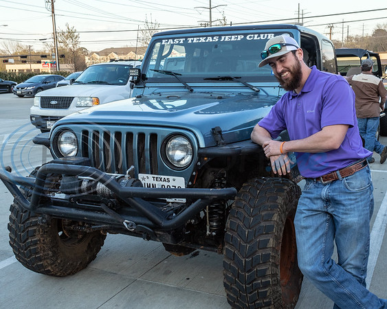 Thomas Knight and his Jeep at the 2019 East Texas Jeep Club Cruise-In, held at the Grub Burger Bar, in Tyler, Tx. Tuesday, March 19,  2019. (Rick Flack/Freelance)