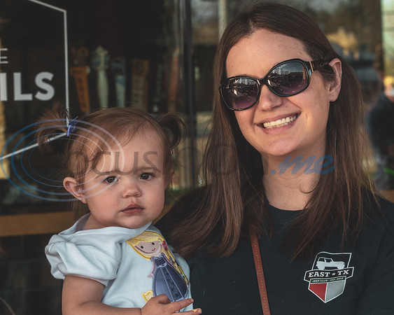 Mother and daughter enjoying the 2019 East Texas Jeep Club Cruise-In at the Grub Burger Barn, Tuesday March 19, 2019, in Tyler. (Rick Flack/Freelance)