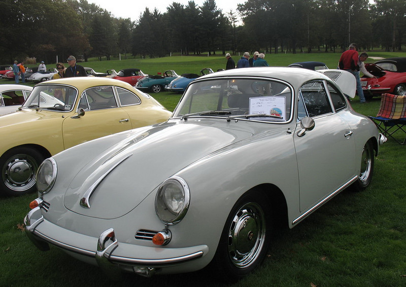 A prize winning 356C Coupe belonging to friends we've met at these events.
