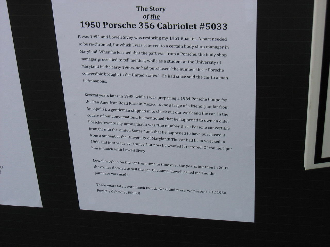 The story of a pre-A Cabriolet