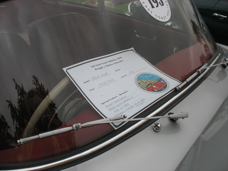 An unusual right-hand drive 356A Coupe.
