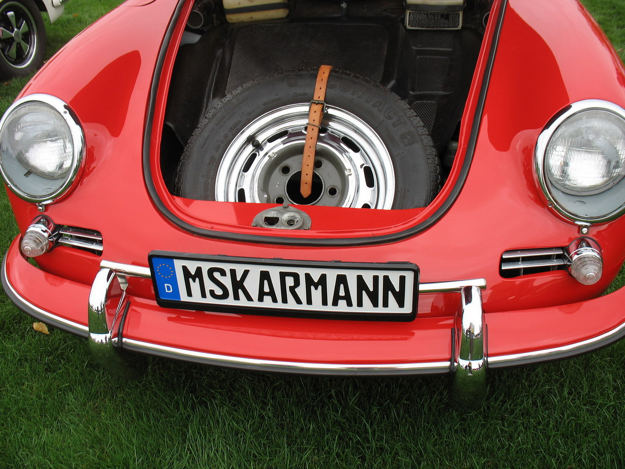 The front of another lovely 356C Coupe.