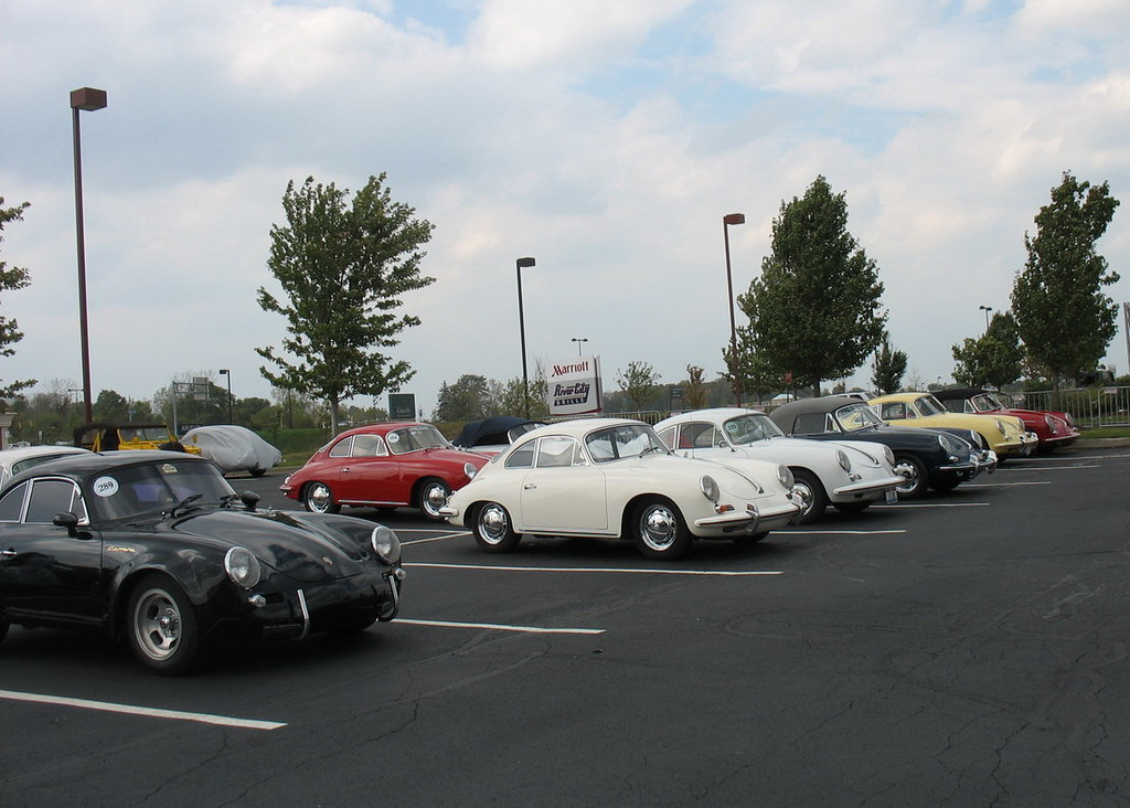 Another of the parking lot at the Marriott. Tricky to find your own car when they all look similar.