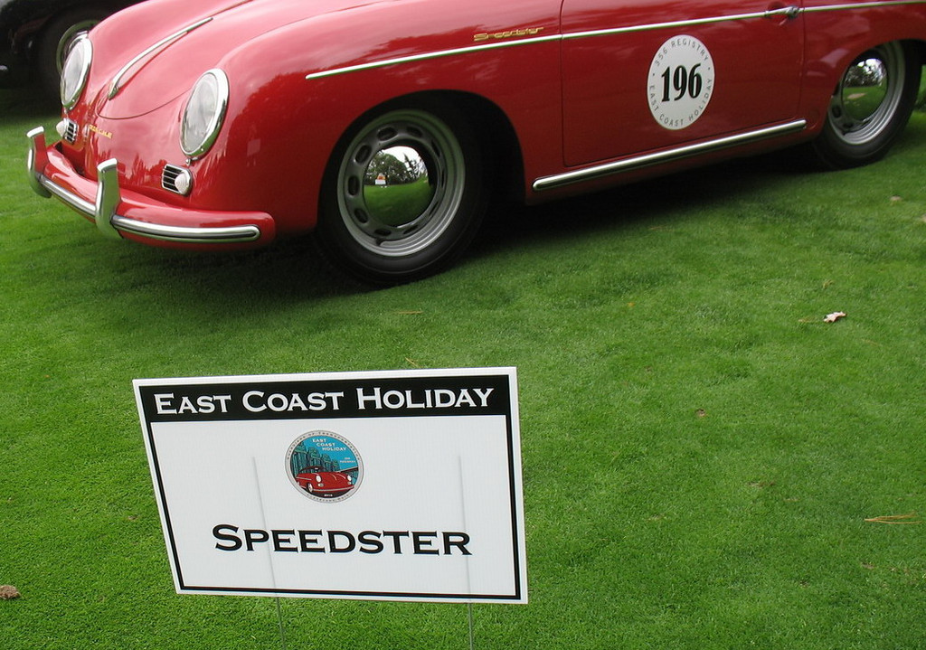 """One of the most desirable collector models is the 356 """"Speedster"""", introduced in late 1954 after Max Hoffman, the sole US importer of Porsches, advised the company that a lower-cost, open-top version could sell well in the American market. With its low, raked windshield (which could be removed for weekend racing), bucket seats and minimal folding top, the Speedster was an instant hit, especially in Southern California. Production of the Speedster peaked at 1,171 cars in 1957 and then started to decline."""
