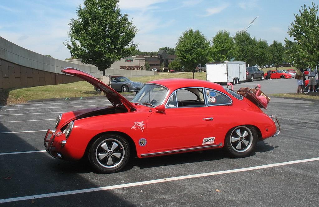 Mitch's distinct car.