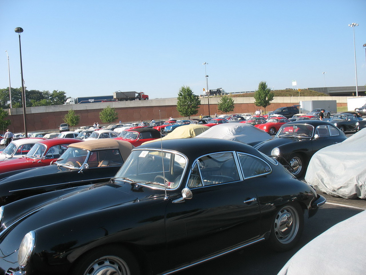 Part of the 356 reserved parking lot at the Eden Resort.<br /> <br /> The last of these cars was made in 1965 so ours is one of the newer ones.